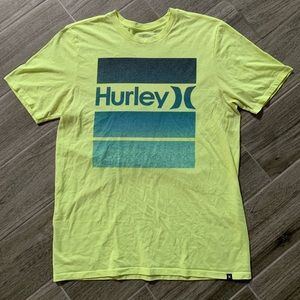 Men's Hurley T-shirt Lime Green Size Medium